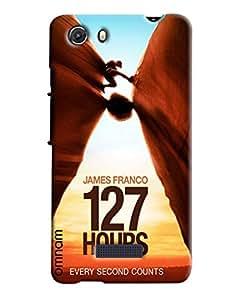 Omnam James Franco 127 Hours Unstoppable Journey Printed Designer Back Cover Case For Micromax Unite 3