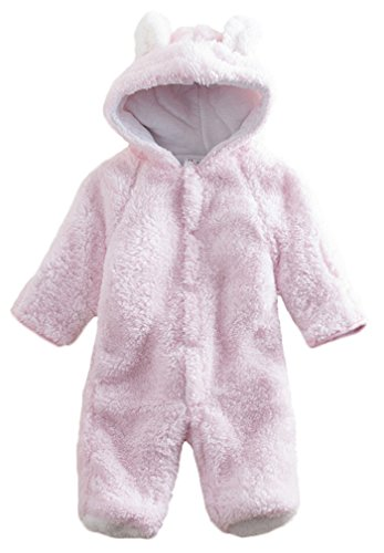 Baby Toddler All in One Snowsuit Romper Snowsuit (0-6 month (Tag 70), Pink)