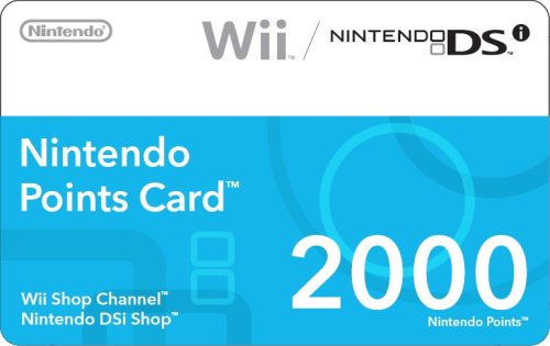 Nintendo 2000 Points Card (DSi or Wii) image