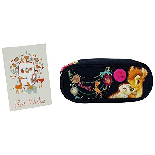 Disney Bambi Astuccio Portapastelli Portapenne Colori Pennarelli Scuola