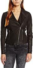 SELECTED FEMME Damen Lederjacke Jacke Sfdanjas Ls Leather Blazer, Gr. 38, Schwarz