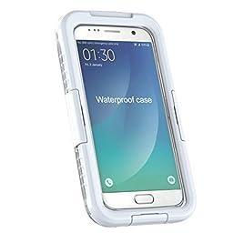 For Samsung Galaxy S7 Case, Towallmark ConvenientWaterproof Shockproof DustProof Case Cover (White )