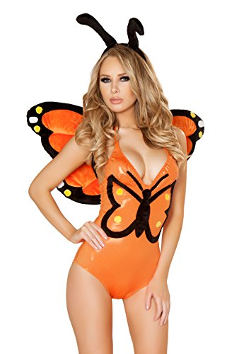 J. Valentine Women's Monarch Butterfly Bodysuit and Headband