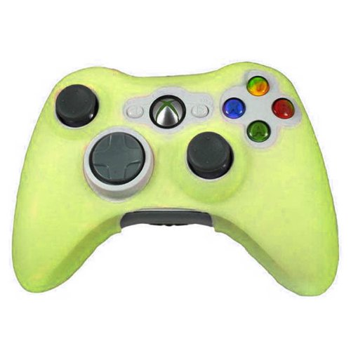 HDE Xbox 360 Silicone Wireless Controller Skin Protective Rubber Case Cover for Microsoft Xbox 360 Game Pad (Yellow)