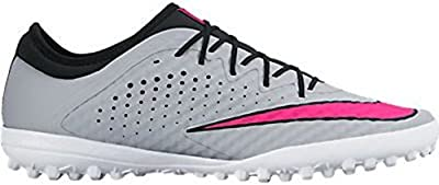 Nike MercurialX Finale TF Turf Soccer Cleats (Wolf Grey, Hyper Pink)