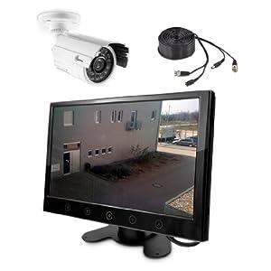 Überwachungssystem CMUES91 Überwachungsanlange mit 9 TFT Monitor und Überwachungskamera zur Live Video Überwachung  BaumarktRezension