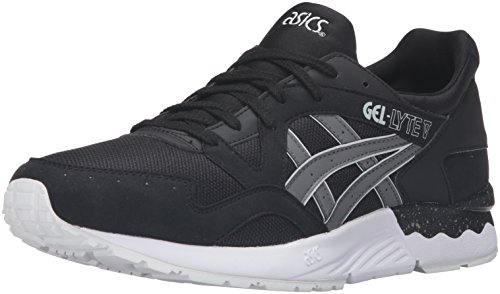 ASICS Men's Gel-Lyte V Fashion Sneaker, Black/Grey, 9.5 M US