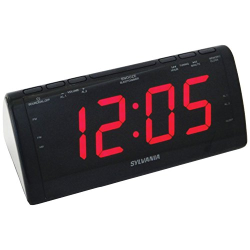 Sylvania SCR1206 Dual Alarm Clock Radio with 1.8-Inch Jumbo Digits (Dual Alarm Clock Large Display compare prices)