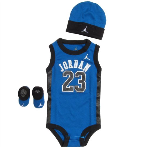 Jordan Baby Clothes 3 Piece Basketball Jersey Set (0-6 months) Royal Blue, 0-6 Months
