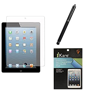 iKare Ultra Clear Anti-Glare Anti-Scratch Anti-Fingerprint Screen Protector for HP Slate 6 + Touch Screen Stylus