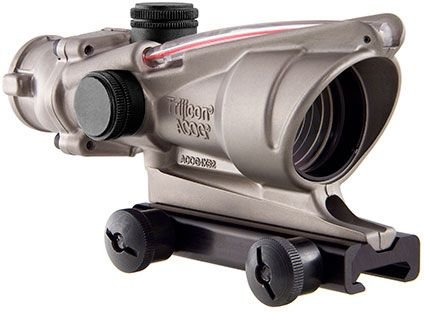 Acog Ta31-D-100194 Nickel Boron Dual Illuminated Red Chevron .223 Bac Reticle With Ta51 Mount, 4X 32Mm