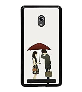 Love Couple 2D Hard Polycarbonate Designer Back Case Cover for Asus Zenfone 5 A501CG :: Asus Zenfone 5 Intel Atom Z2520 :: Asus Zenfone 5 Intel Atom Z2560