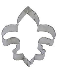 "R&M Fleur De Lis 4.5"" Cookie Cutter in Durable, Economical, Tinplated Steel"