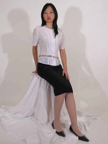Long Silk Skirt by Royal Silk - Black - 27-28 Petite Image