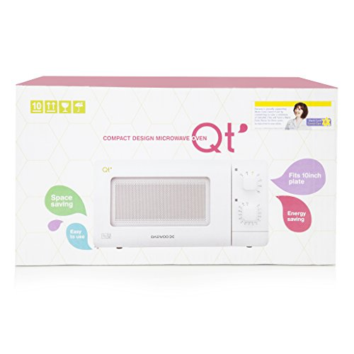 New Daewoo Qt1 White Compact Manual Microwave Oven Dial