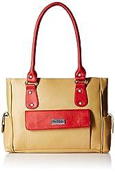 Fantosy Women's Handbag (Beige and Red) (FNB-291)
