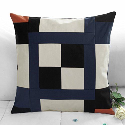 [Schwarze Serie] handgemachte dekorative Kissen einzigartigen Gitterkissen 48cm -