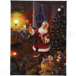 Gold label mr christmas illuminart 8 x 10 for Christmas wall art amazon