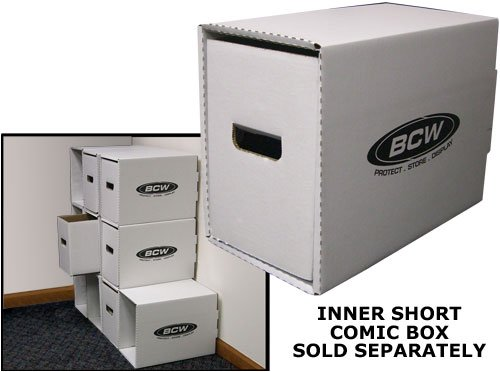 BCW-Short-Comic-Book-Storage-Box-House-Short-Comic-Cardboard-Storage-Box-Bundle-of-5-EACH-Corrugated-Cardboard-Storage-Box-Comic-Book-Collecting-Supplies