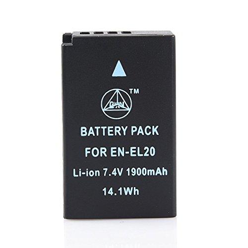 QIAOJINLIN 完全互換バッテリー 予備電池 対応 Nikon ニコン EN-EL20 EN-EL20A Coolpix A 1 J1 J2 J3 AW1 S1 V3 カメラ