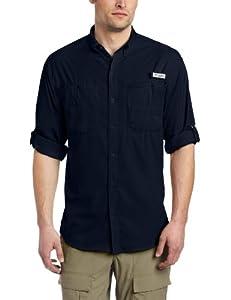 Columbia Men's Tamiami II Long Sleeve Shirt, Small, Collegiate Navy