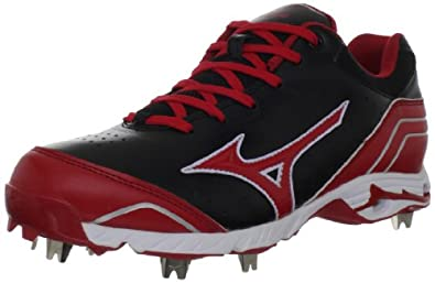 Mizuno Men's 9-Spike Advanced Classic 7 Baseball Cleat,Black/Red,7 M US