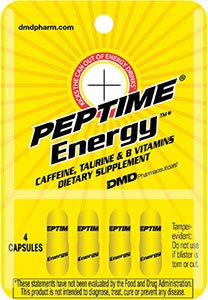 Peptime Xtreme T With Taurine Caffeine And B Complex Vitamin Capsules 96 Count In Blister Packs