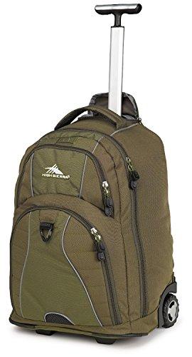 High Sierra Freewheel Wheeled Book Bag Backpack (20.5 X 13.5 X 8-Inch, Moss / Olive)