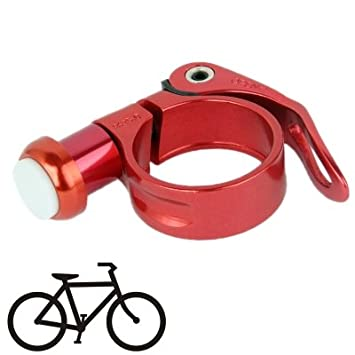 35Mm Multi-Fonction Aluminium Clip Lampe De Vélo Avec 2 Modes Conduit De Lumière (Rouge)