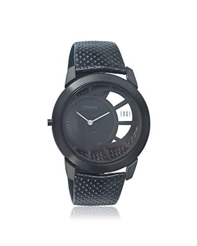 Titan Men's 1576NL02 Edge Black Titanium Watch