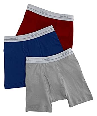 Hanes Baby Boys' Classics Exposed Waistband Boxer Brief - Assorted Solids - Small
