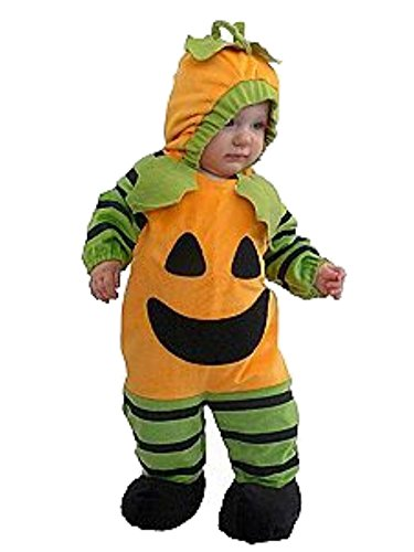Totally Ghoul Infant Boys & Girls Orange Pumpkin Costume Plush Outfit 6-12 Months