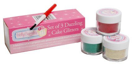 set-of-3-holly-cupcakes-decorating-glitters-with-application-brush-gold-red-and-holly-green