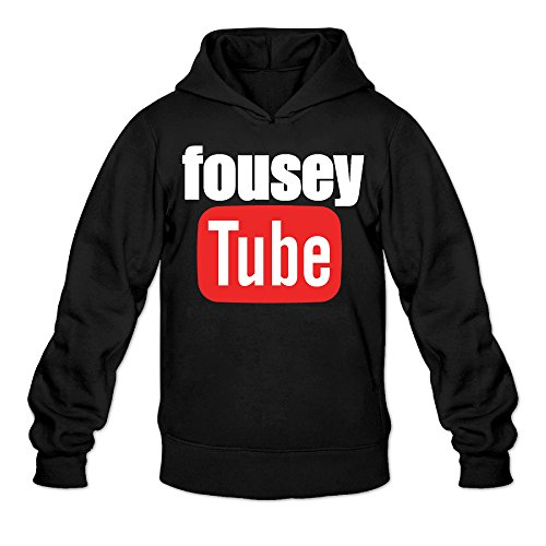 [CEDAEI Men's Fousey You Tube Hoodies Hoodie Without Kangaroo Pocket Large Black] (Ghana Costume For Boys)
