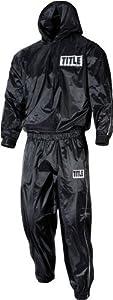 TITLE Pro Hooded Sauna Suit, Black, Medium