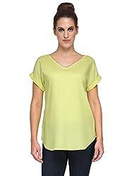 Kiosha Yellow Half Sleeveless cotton top
