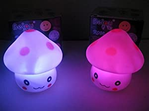 Domire Pack of 2 Color Changing Desk Bedroom Party Wedding Lamp LED Night Light,Mushroom from Domire