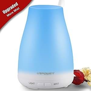 urpower 2nd version essential oil diffuser 100ml aroma essential oil cool mist. Black Bedroom Furniture Sets. Home Design Ideas