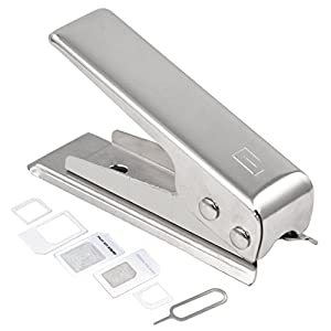DIGIFLEX Nano Sim Card Cutter & 2 Adaptors for iPhone 4 4S 5 iPad 3 and Above