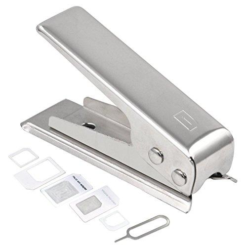 DIGIFLEX Cutter de carte Sim Nano & 2 adaptateurs pour iPhone 4 4S 5 et à partir de l'iPad 3
