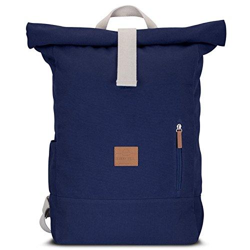 johnny-urban-roll-top-rucksack-aus-baumwoll-canvas-blau-hochwertiger-damen-herren-daypack-aus-segelt