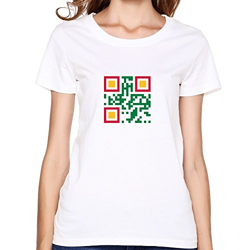 Women'S Qr Code Suriname Custom Made Large O-Neck Tee Shirt By Dingding