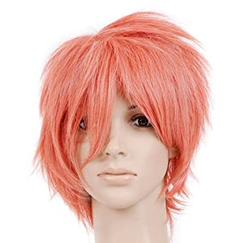 Pink Short Length Anime Cosplay Costume Wig