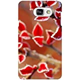 AMAN Red Flower Pattern 3D Back Cover For Samsung Galaxy A7 2016