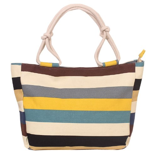 EcoCity Womens Canvas Shopping Beach Tote Bags