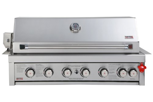 Swiss Grill 650 Zurich Series Built-In Stainless Steel Grill with 6-Piece Burner Unit/Infrared Rear Burner/Rotisserie Kit