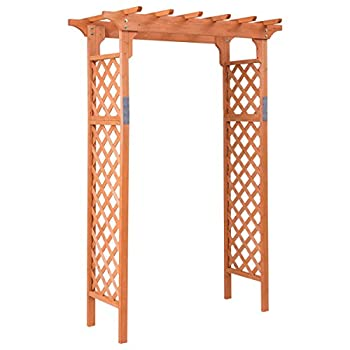 Arbor Over 7FT High Wooden Garden Arch Trellis Pergola Outdoor Patio Plant