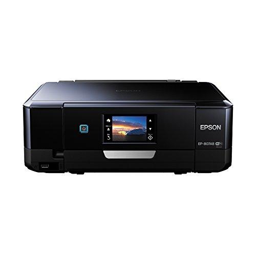 EPSON インクジェット複合機 Colorio EP-807AB 無線 有線 スマートフォンプリント Wi-Fi Direct ブラック