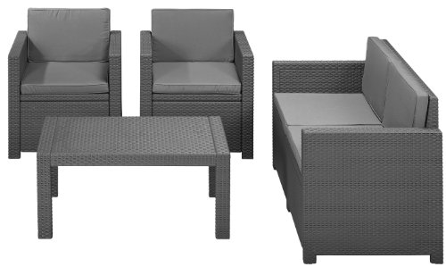 1 allibert 212142 lounge set victoria set rattanoptik. Black Bedroom Furniture Sets. Home Design Ideas