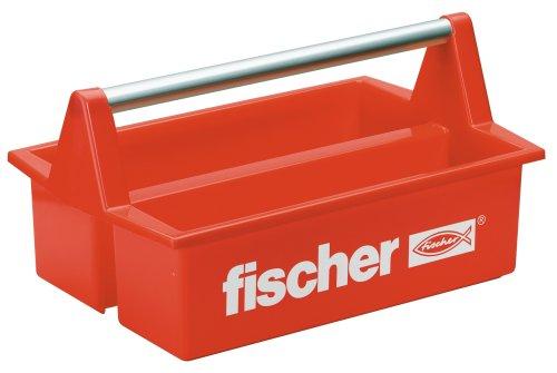 Fischer-Werkzeugkasten-Plastik-Rot